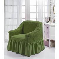Чехол на кресло зеленый  Турция