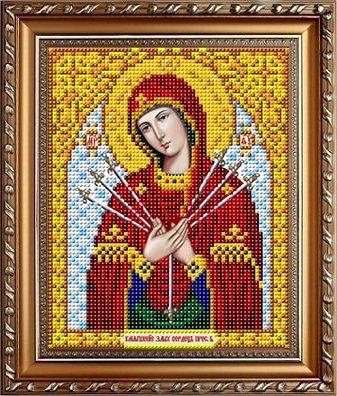 """Схема для вышивки бисером """"Пресвятая Богородица Умягчение злых сердец"""" ИС-5017"""