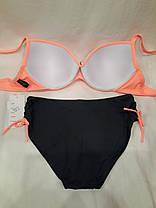 Купальник 2627 Канты персиковый на наши 48 50   размеры , фото 3