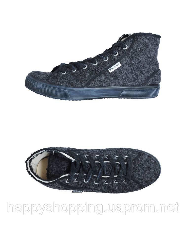Серые высокие кеды Sneeky Sneaker
