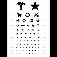 ТО Таблица Орловой для проверки зрения у детей.