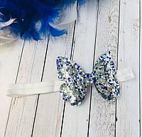Модная повязка для волос со сверкающей бабочкой