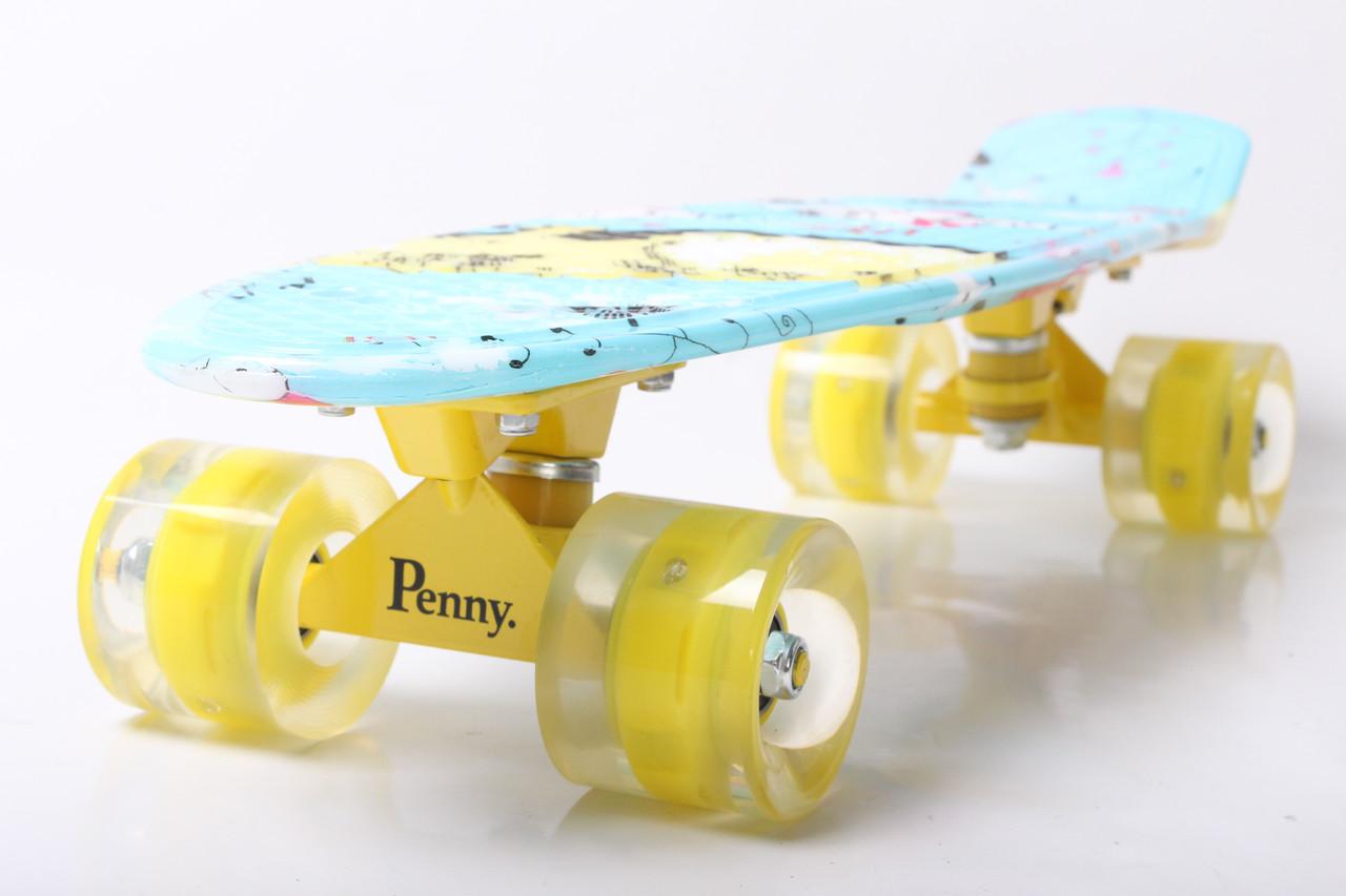 """Пенни борд Penny Style 22"""" светящиеся Cat (2T2034)"""