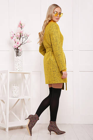 Женское шерстяное пальто, желтое, р.40,42, фото 2