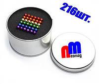 НЕОКУБ, NeoCube радуга , шестицветный, разноцветный. ★Металлическая коробка в ПОДАРОК!★