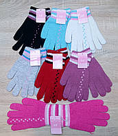 Перчатки женские шерстяные одинарные Plush, ассорти, 0894