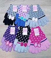 Перчатки женские шерстяные одинарные Plush, ассорти, 0895
