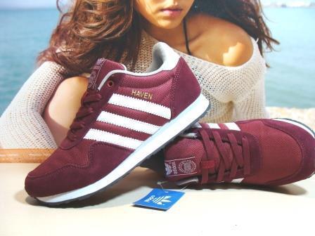 Мужcкие кроссовки Adidas Haven  бордовые 44 р.