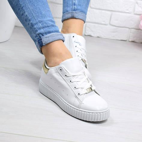 """Кроссовки, кеды, мокасины женские белые """"Melee"""" эко кожа, спортивная, летняя, повседневная обувь, фото 2"""