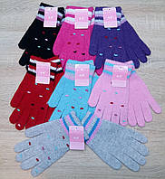 Перчатки женские шерстяные одинарные Plush, ассорти, 0896