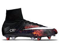 """Футбольные бутсы Nike Mercurial Superfly CR7 FG """"Black/White/Total Crimson"""" Арт. 0895"""