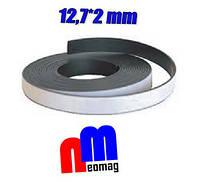 Гибкая магнитная лента, магнитная резина 12,7х1,5 мм, рекламная продукция, фото 1