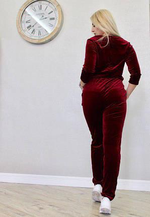 "Бархатный женский комбинезон ""Margie"" с карманами, фото 2"