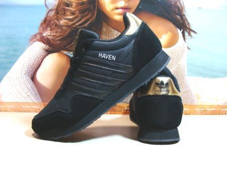 Мужские кроссовки Adidas Haven (реплика) черные 43 р.