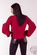 "Трикотажная женская блуза ""ROLLY"" с рукавами фонариками (2 цвета), фото 3"