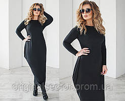 Женское платье мешок  батальных размеров
