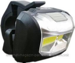 Фонарик для велосипеда очень яркий свет ЦОБ-диоды 3 режима + крепеж в комплекте оригинал