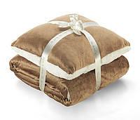 "Набор плед с подушкой ""Теплые объятия"" Warm Hug,2х2 м"