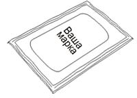 Салфетка влажная с логотипом Вашей компании в индивидуальной упаковке
