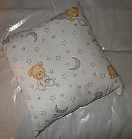 Подушка детская для детей садика в детсий сада антиалергенный холлофайбер 38*38 см