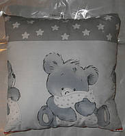 Подушка детская антиалергенная для детей внутри холлофайбер 38*38 см