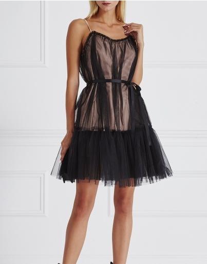 Комбинированное двойное платье