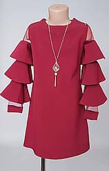 Платье для девочки с рукавами воланами с 134 по 152 размер