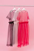 Сукня комбіноване футболка, фото 3