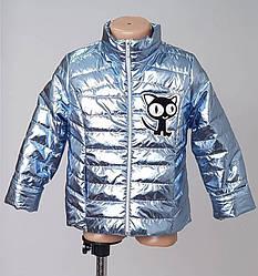 Куртка весенняя детская голубого цвета