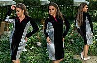 Женское платье бархат батал