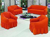 Чехол на диван и 2 кресла универсальный, красный, фото 1