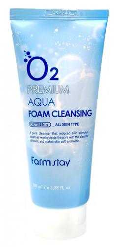 Кислородная пенка для умывания FarmStay O2 Premium Aqua Foam Cleansing,100 мл