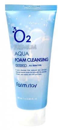 Кислородная пенка для умывания FarmStay O2 Premium Aqua Foam Cleansing,100 мл, фото 2