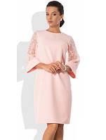 Элегантное розовое платье в офис Д-1030