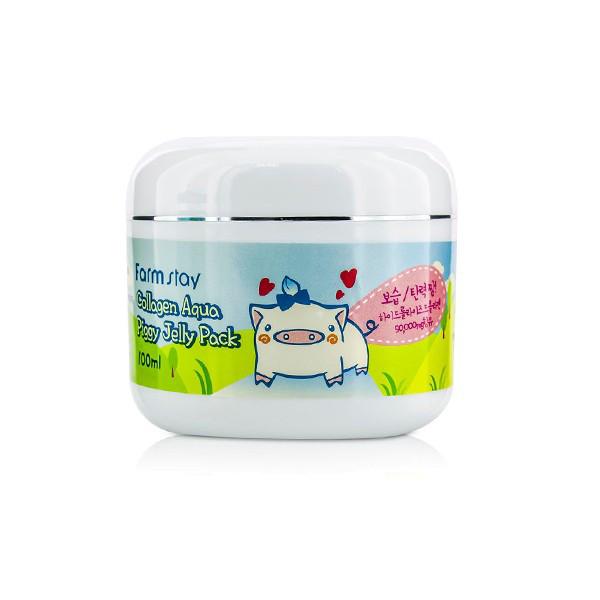Ночная маска-желе со свиным коллагеном FarmStay Collagen Aqua Piggy Jelly Pack,100 мл