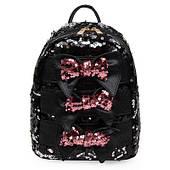 Рюкзак чорний з паєтками і бантиками
