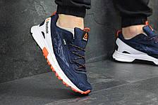 Чоловічі кросівки Reebok,щільна сітка, темно синій з білим 44р, фото 3