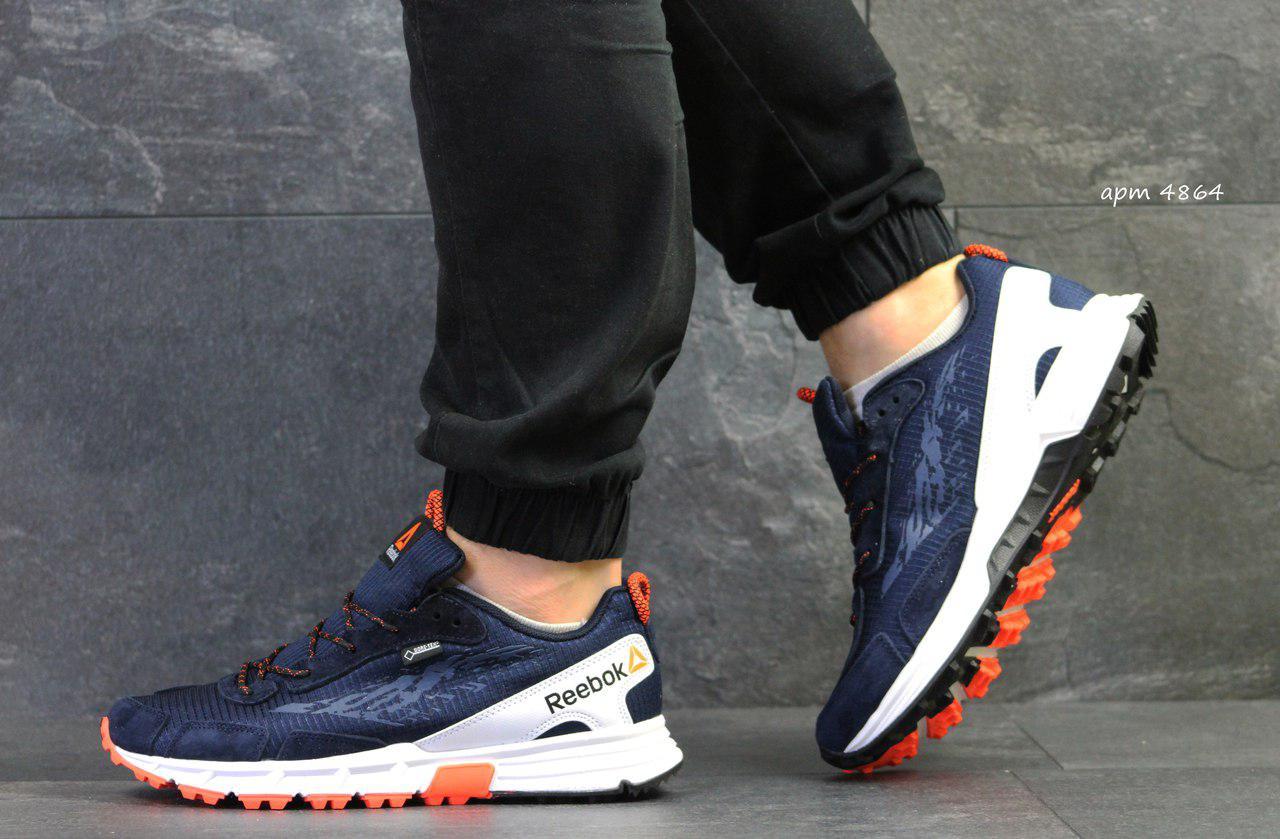 Чоловічі кросівки Reebok,щільна сітка, темно синій з білим 44р