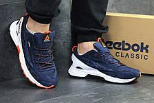 Чоловічі кросівки Reebok,щільна сітка, темно синій з білим 44р, фото 2
