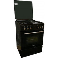 Газ. плита CANREY 60 *60см, электророзжиг, подсветка, стеклянная крышка, хоз.ящик Canrey CGL6040коричневая