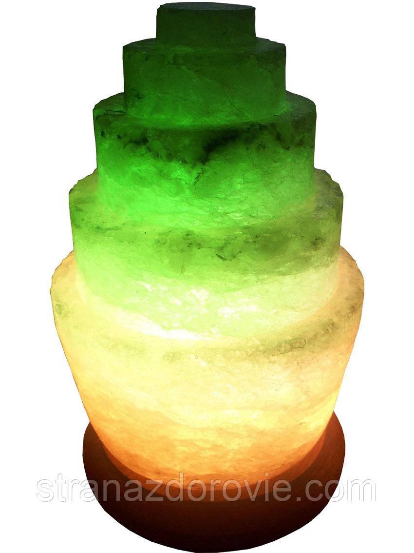 Солевая лампа Пагода круглая 3-4 кг