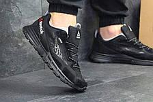 Мужские кроссовки Reebok,плотная сетка, черные, фото 3