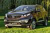 Накладка на передний бампер для Kia Sportage 3 2010-2015