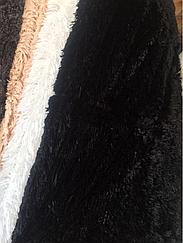 Покрывало меховое (трака) 220х240, цвет черный