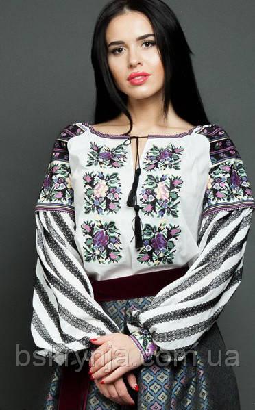 Заготовка Борщівської жіночої сорочки для вишивки нитками/бісером БС-128