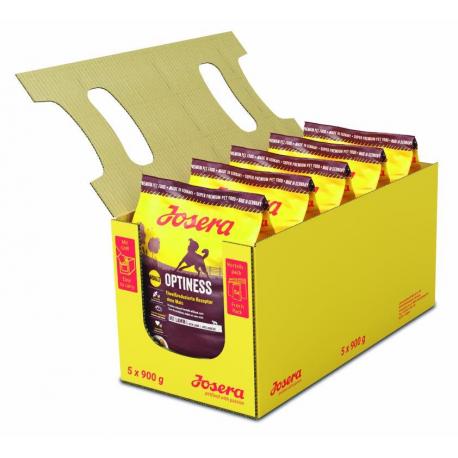 Josera Optiness  5*0,9кг - корм для собак с пониженным содержанием белка (картофель баранина)