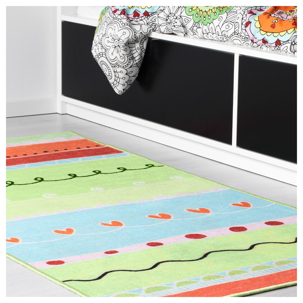 ВАНСКАПЛИГ Килим, різнобарвний, 80x160 см, 40332719, IKEA, ІКЕА, VÄNSKAPLIG