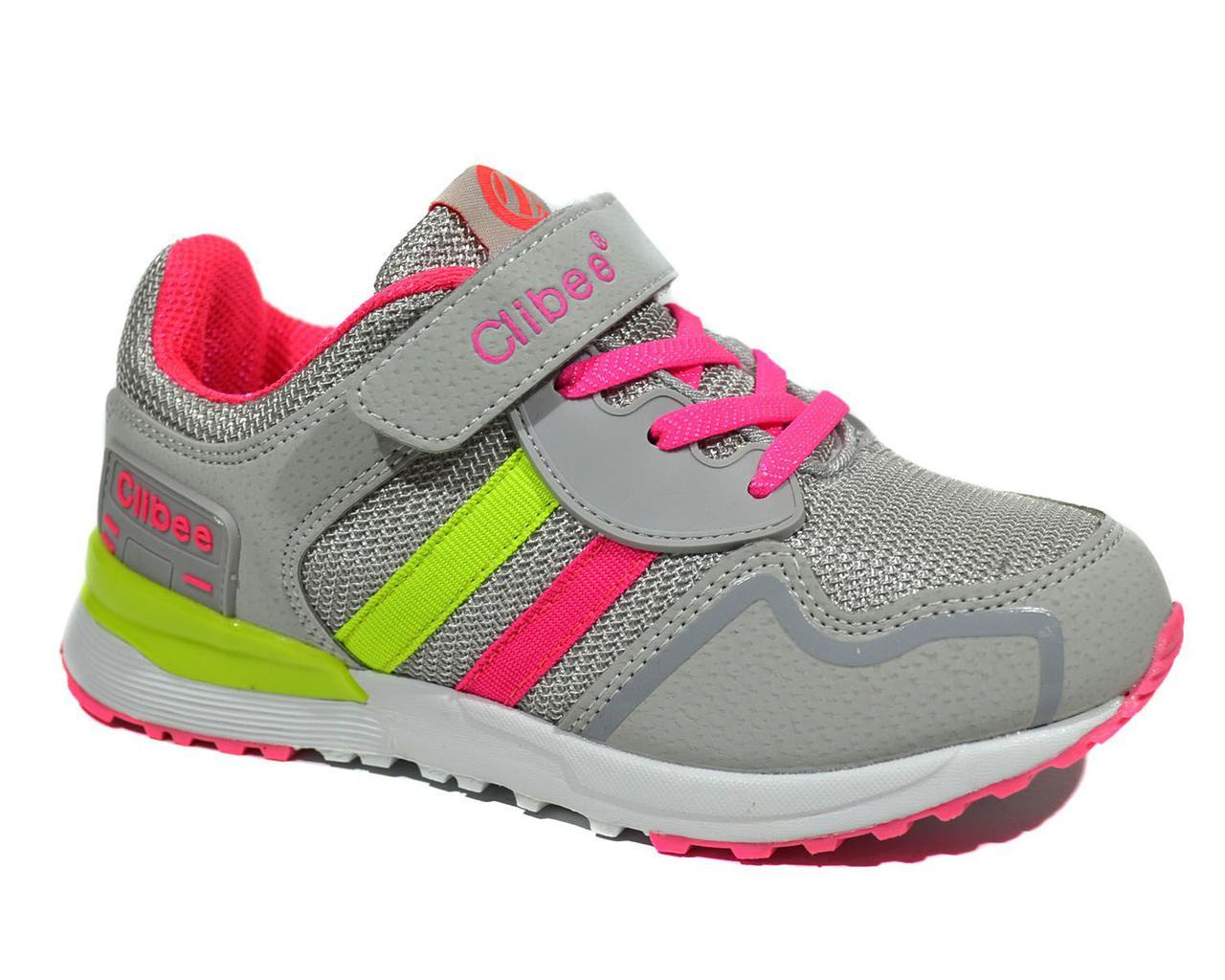 Детские кросcовки  для девочки Llight grey-water red
