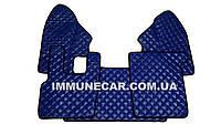 Ковры из эко-кожи DAF XF 95 МКП синего цвета в кабину