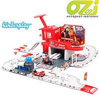 Пожарный участок с треком и гаражом марки Kinderplay